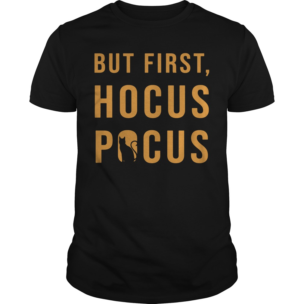 Halloween But First Hocus Pocus Cat Guys shirt