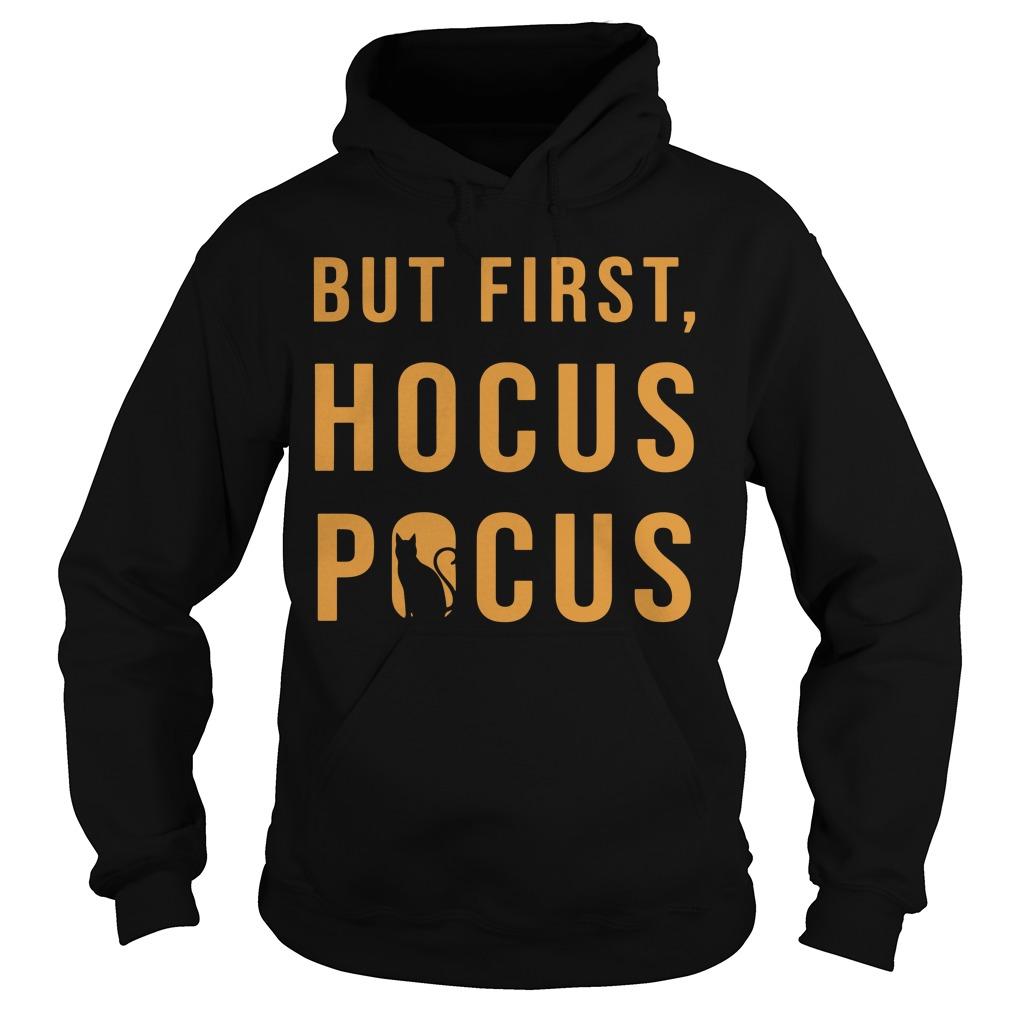 Halloween But First Hocus Pocus Cat Hoodie