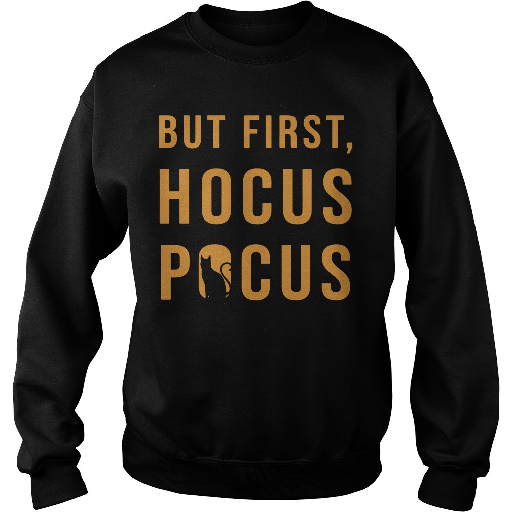 Halloween But First Hocus Pocus Cat Sweater