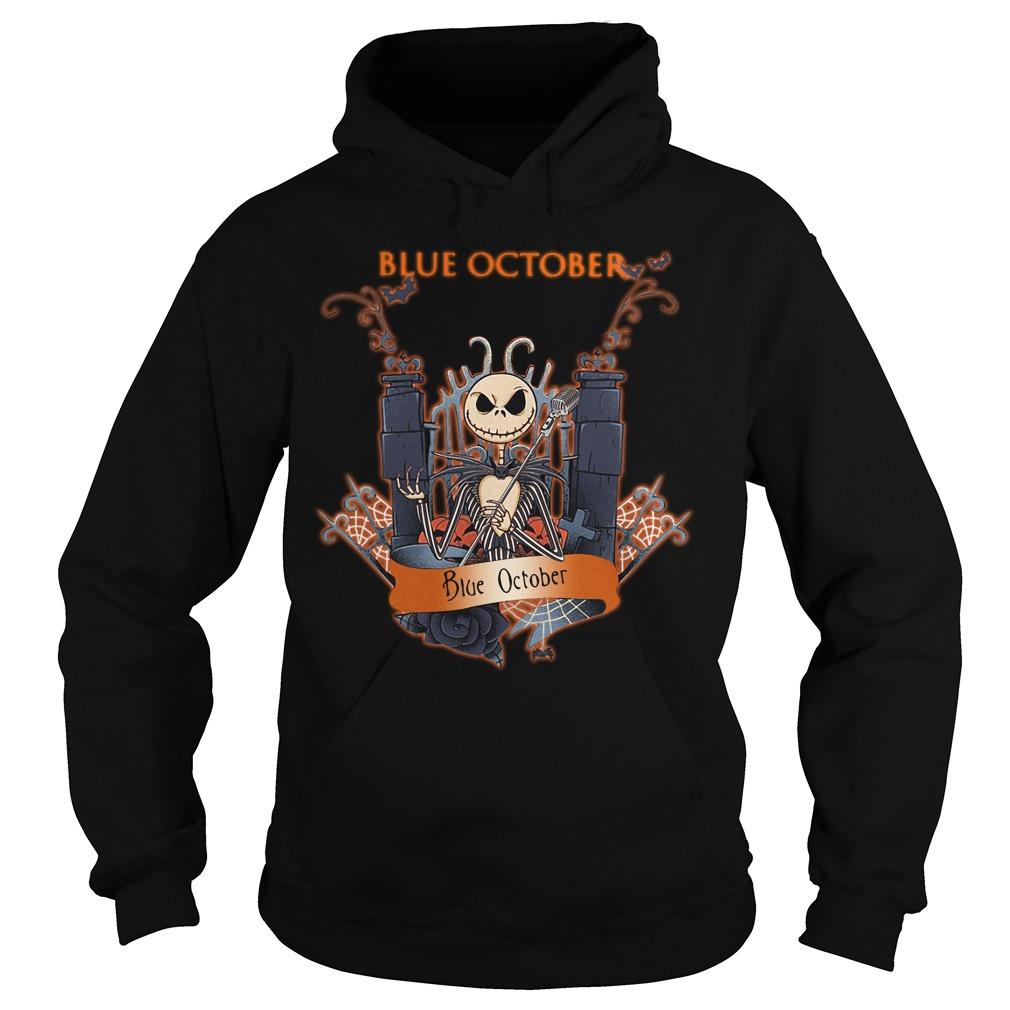 Halloween Jack Skellington blue october Hoodie