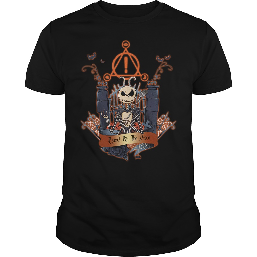 Halloween Jack Skellington Panic at the disco Guys shirt