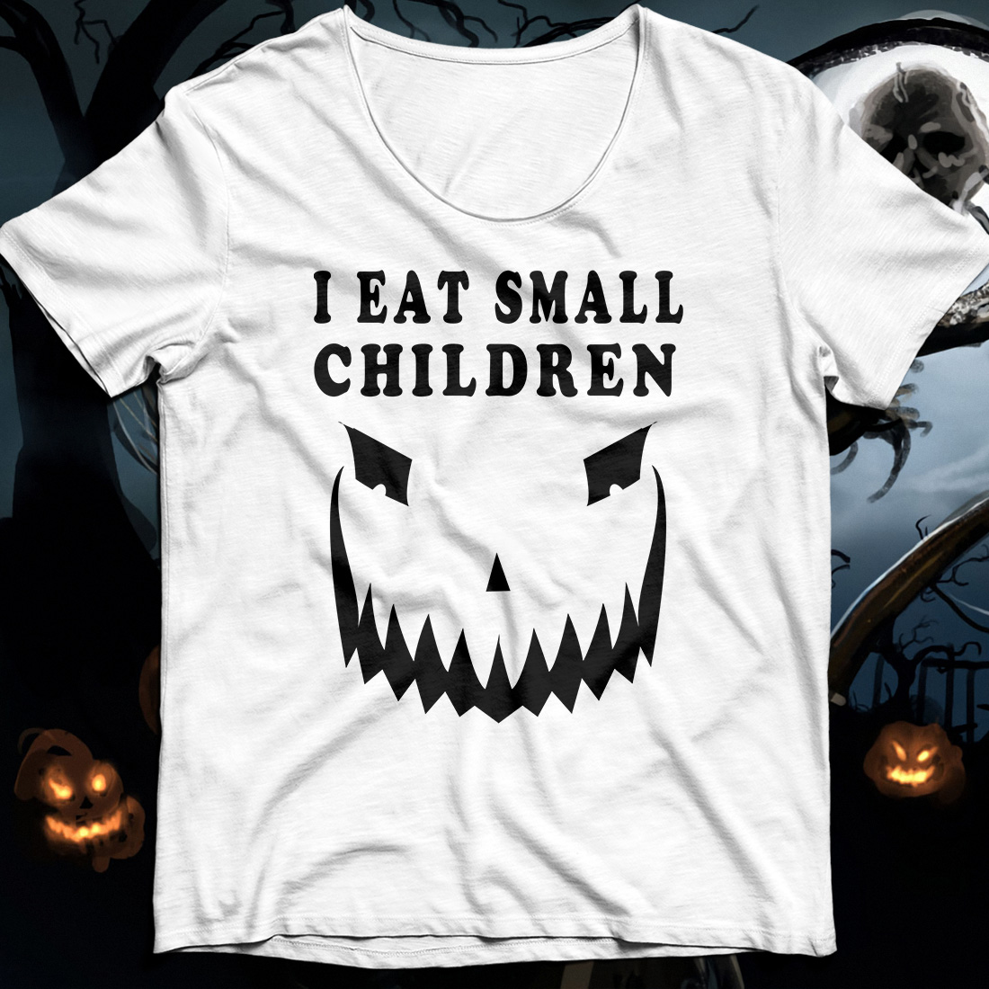Halloween Pumpkin I eat small children shirt
