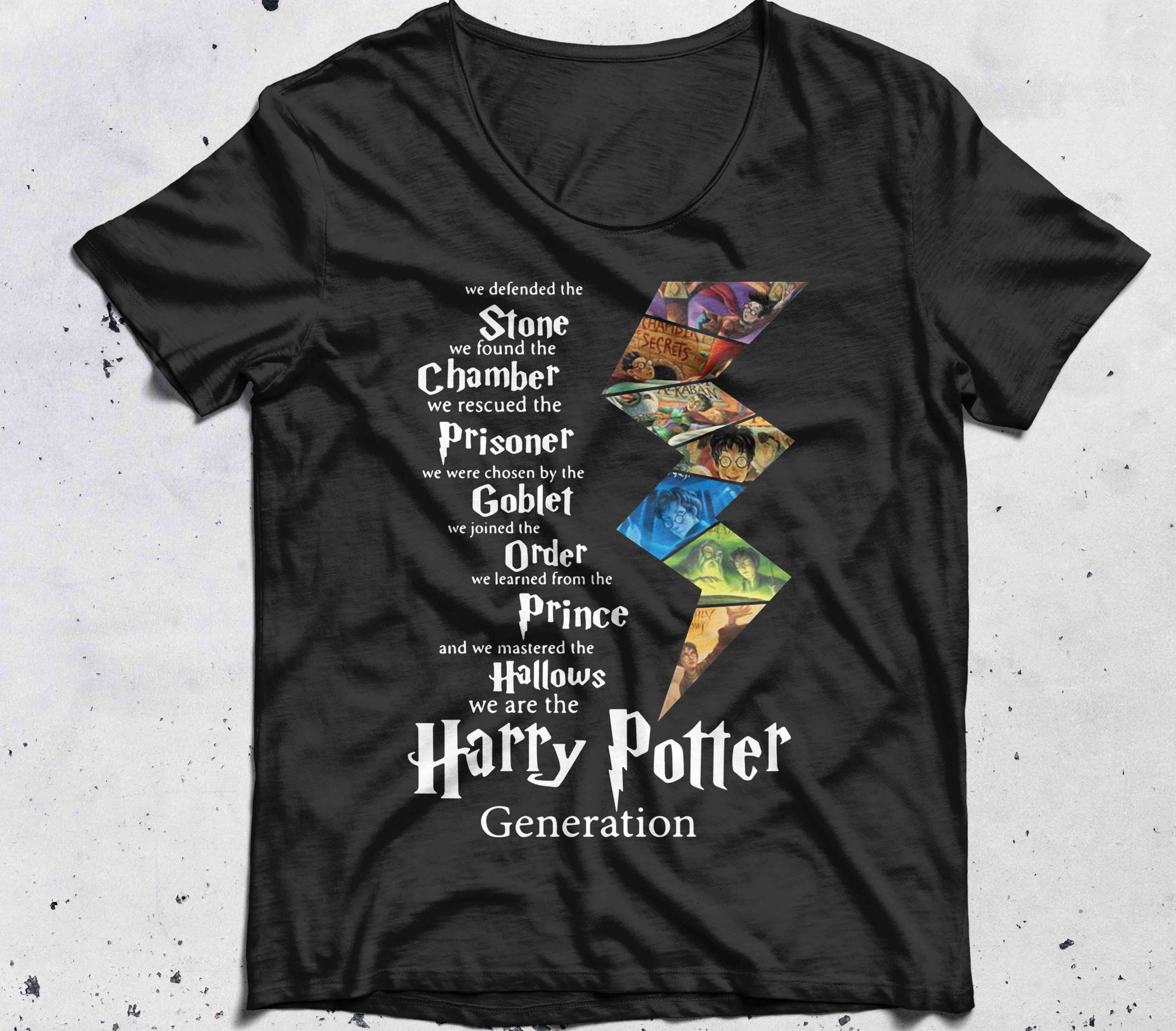 Harry Potter generation we defended the stone we found the chamber shirt