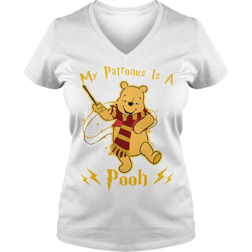 Harry Potter my Patronus is a Pooh V-neck T-shirt