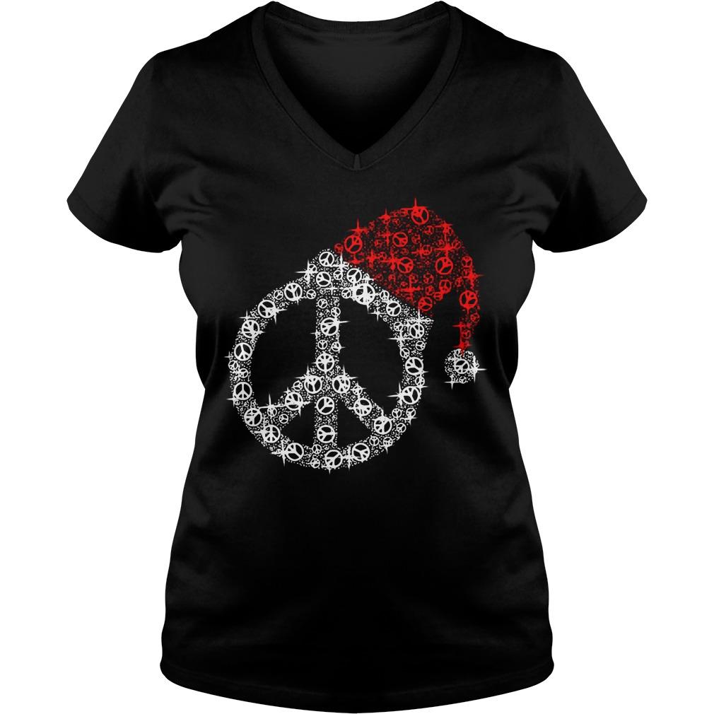 Hippie Satan merry Christmas V-neck T-shirt