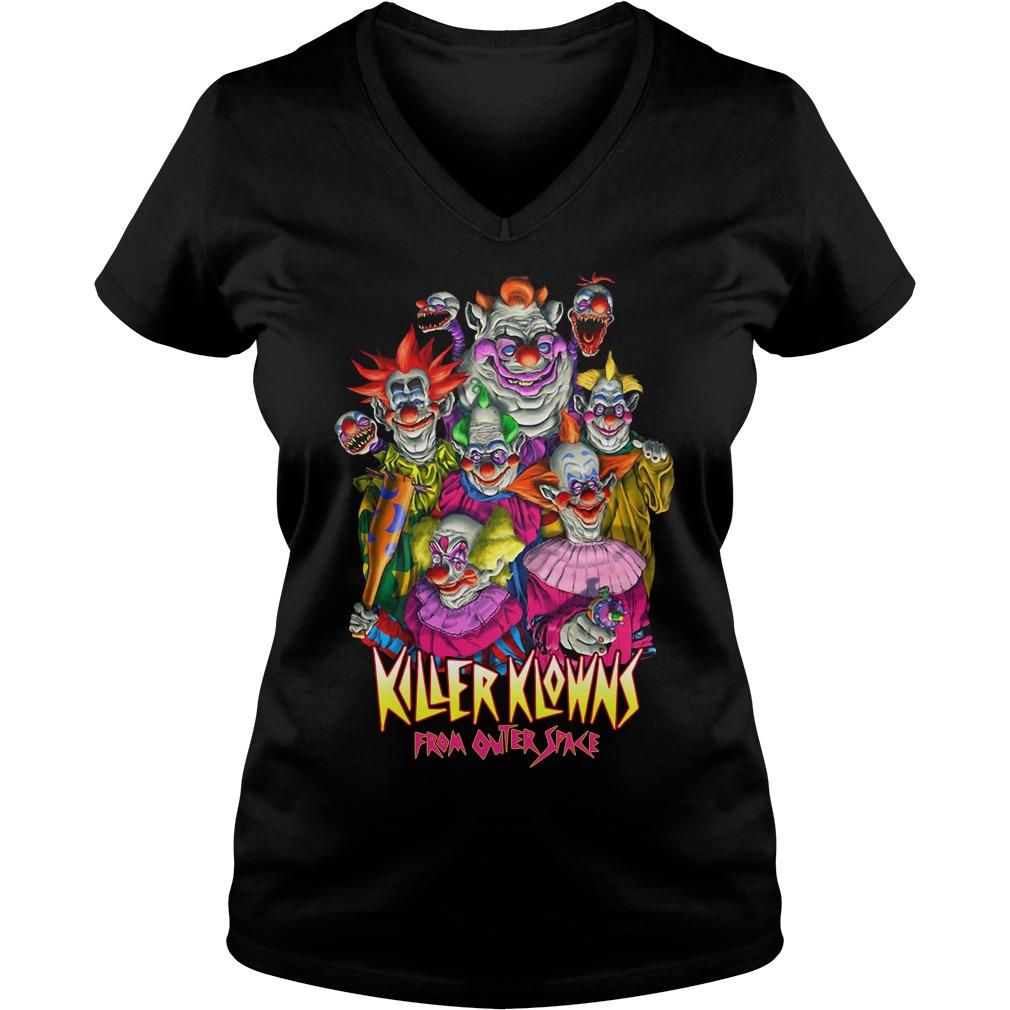Horror Killer Klowns From Outer Space V-neck T-shirt