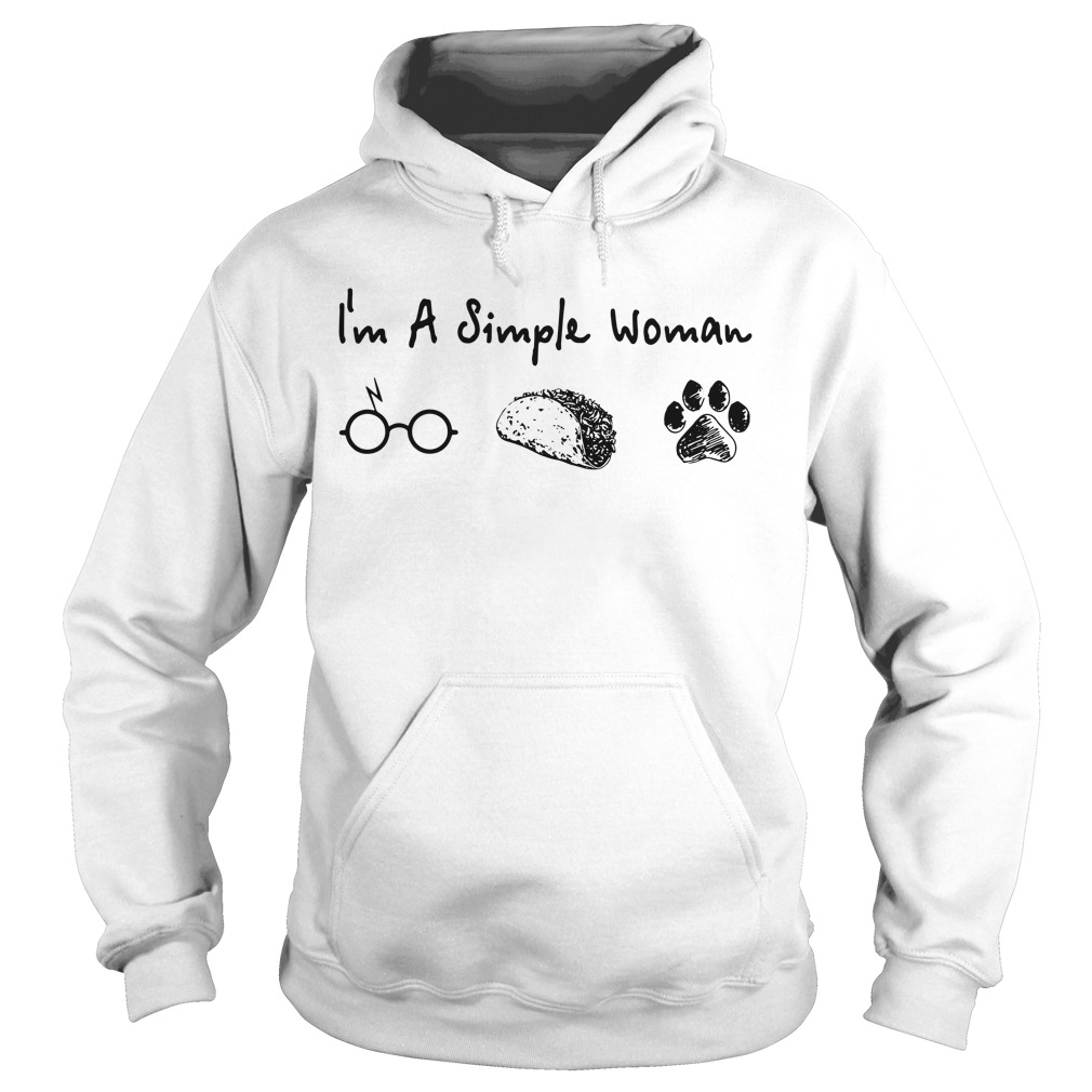 I'm a simple woman Harry Potter Tacos and Paw Dogs Hoodie