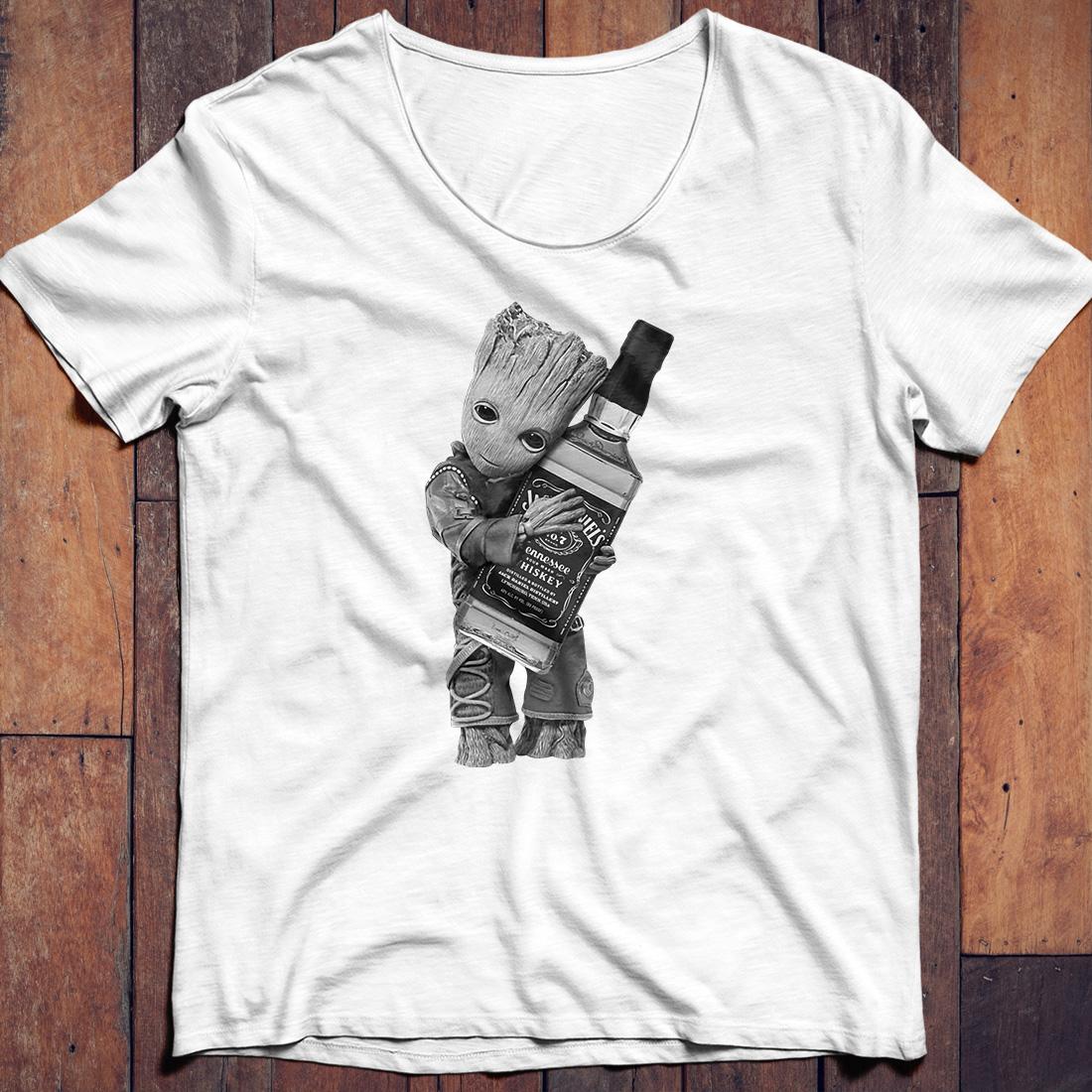 Jack Skellington hug Jack Daniel's Tennessee shirt
