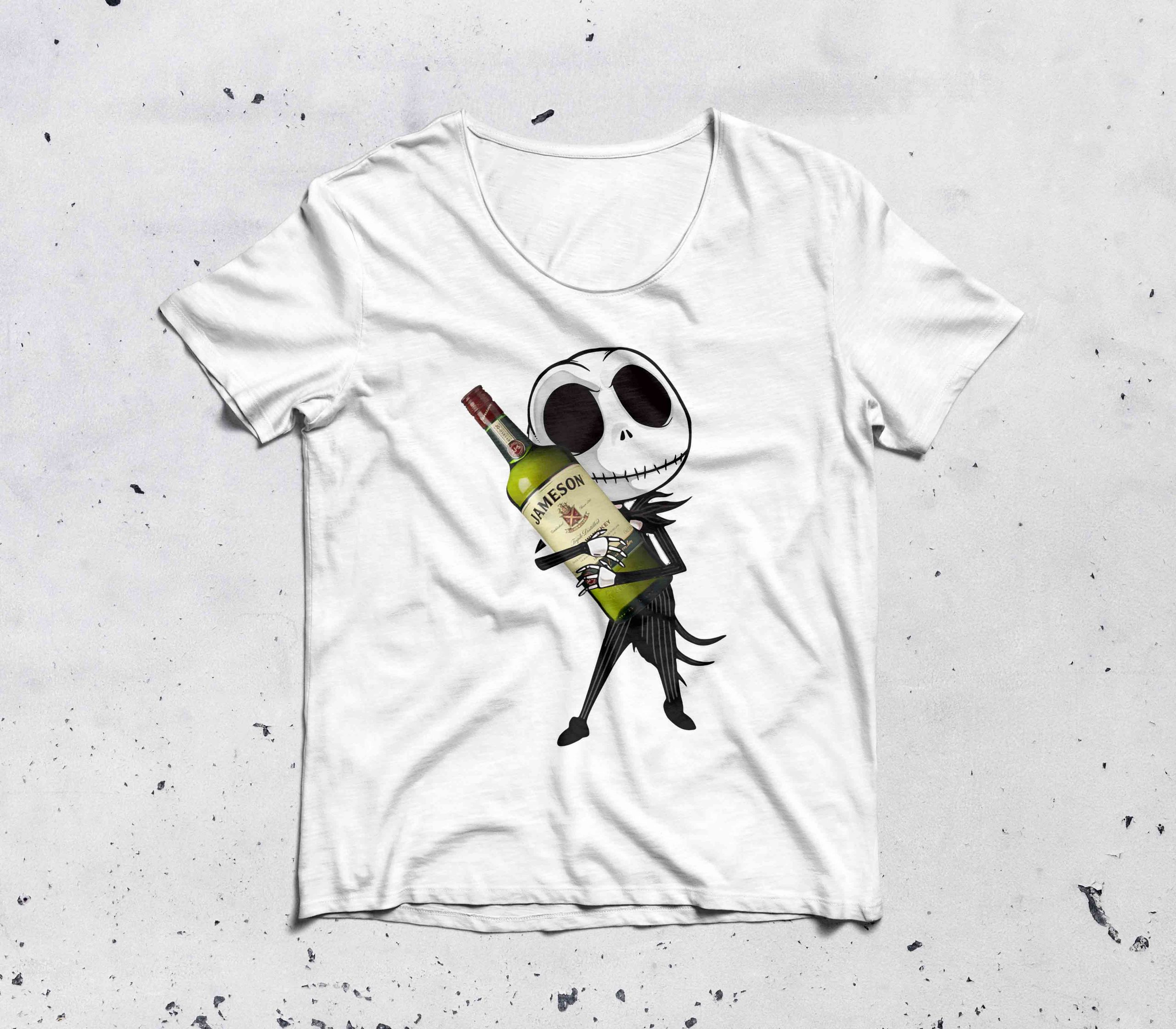 Jack Skellington hug Jameson Irish Whiskey shirt