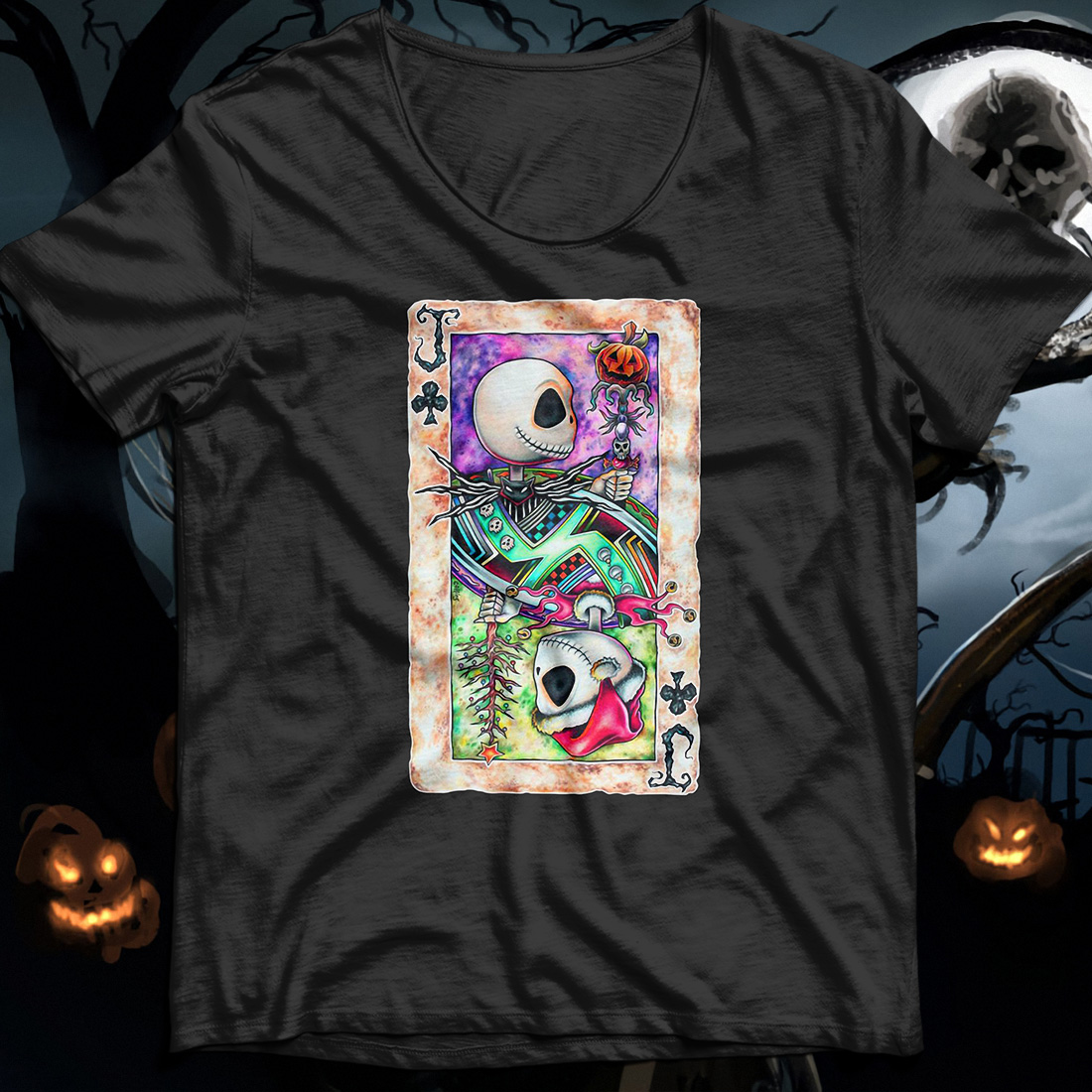 Jack Skellington playing card shirt