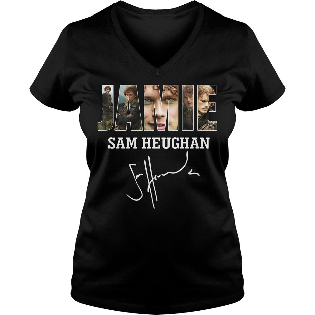 Jamie Sam Heughan Sam Heughan V-neck T-shirt