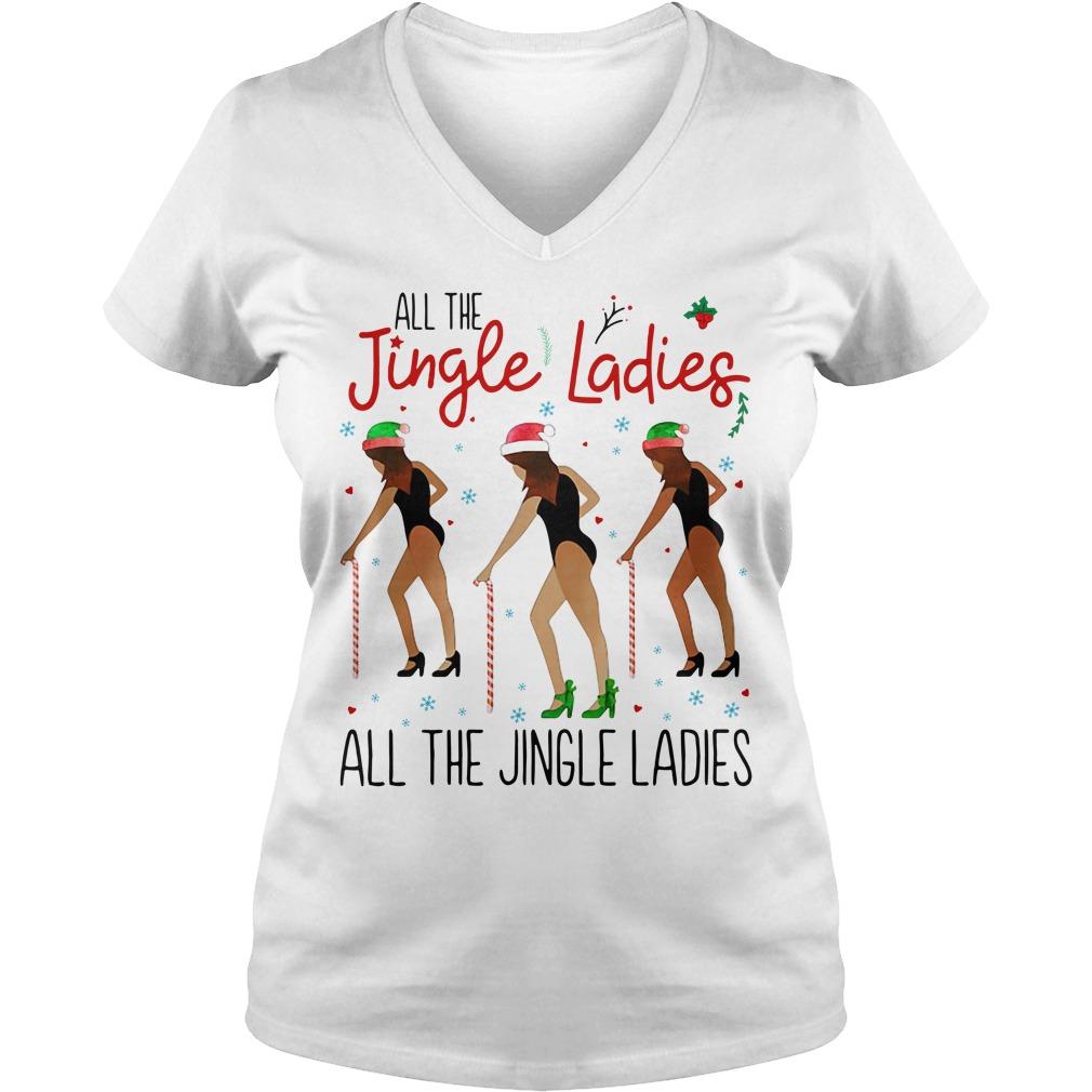 All the Jingle Ladies All the Jingle Ladies V-neck T-shirt