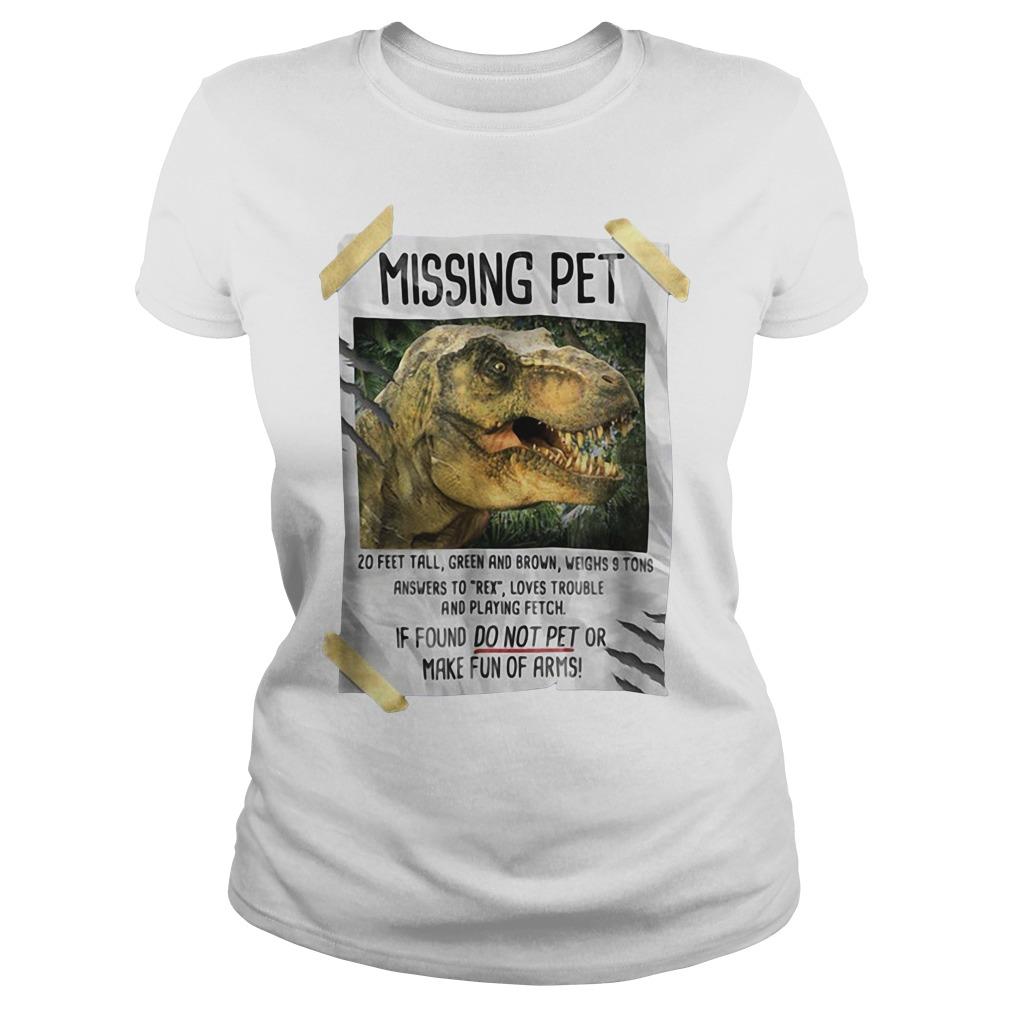 Jurassic park Missing pet Ladies tee