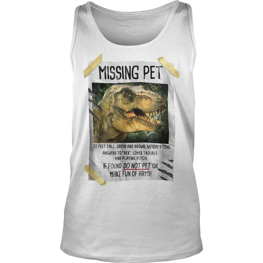 Jurassic park Missing pet Tank top