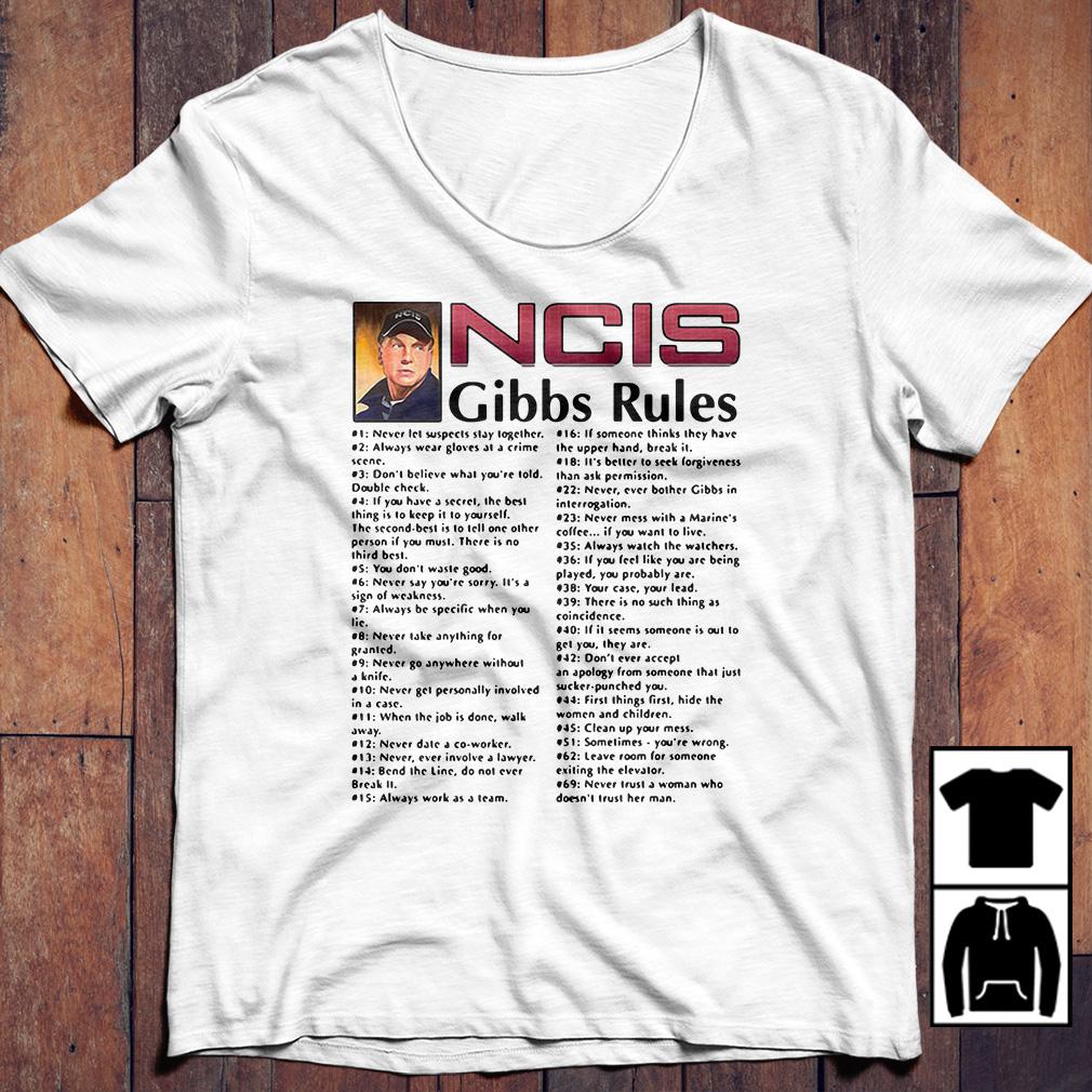 Leroy Jethro Gibbs – NCIS Gibbs rules shirt