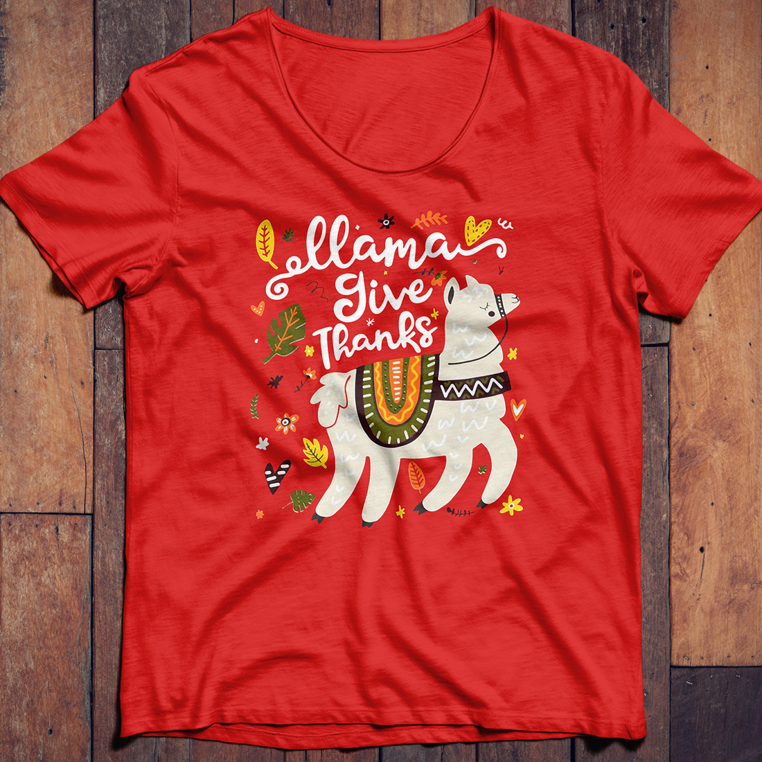 Llama give thanks shirt