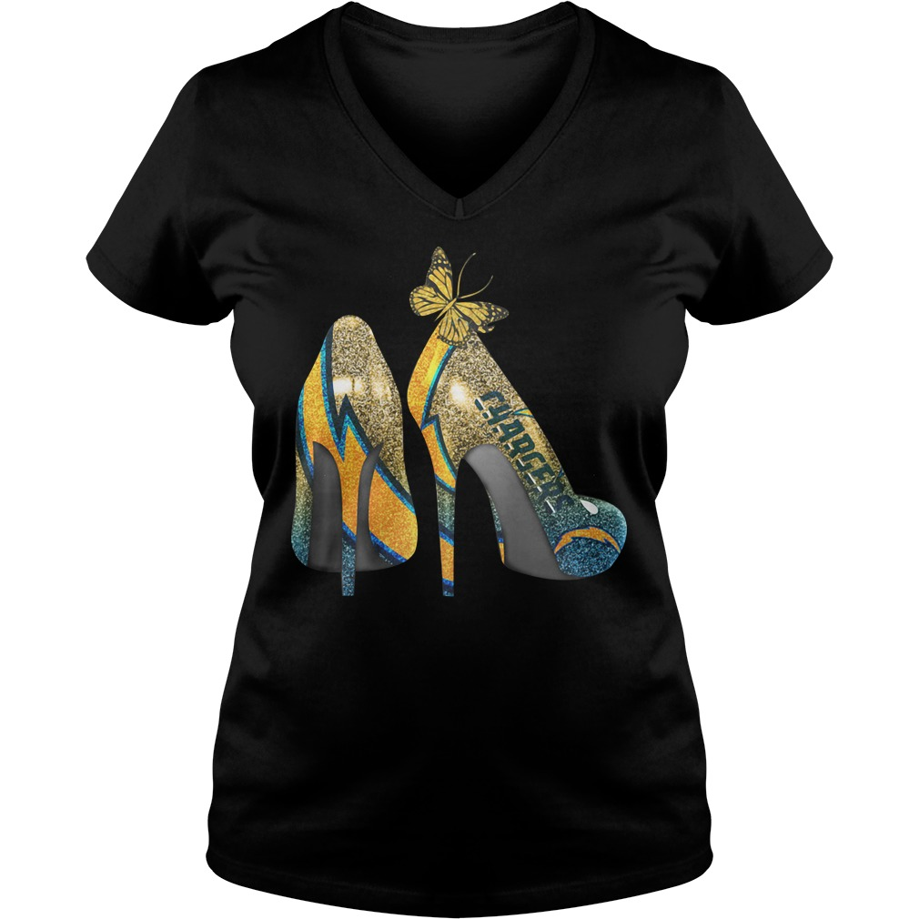 Los Angeles Chargers High Heels V-neck T-shirt