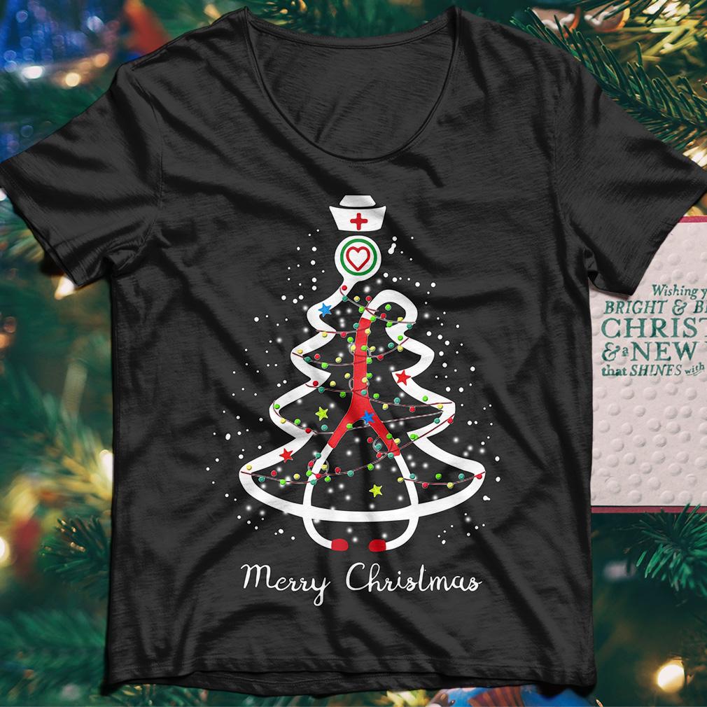 Merry Christmas Nurse Tree Stethoscope sweater