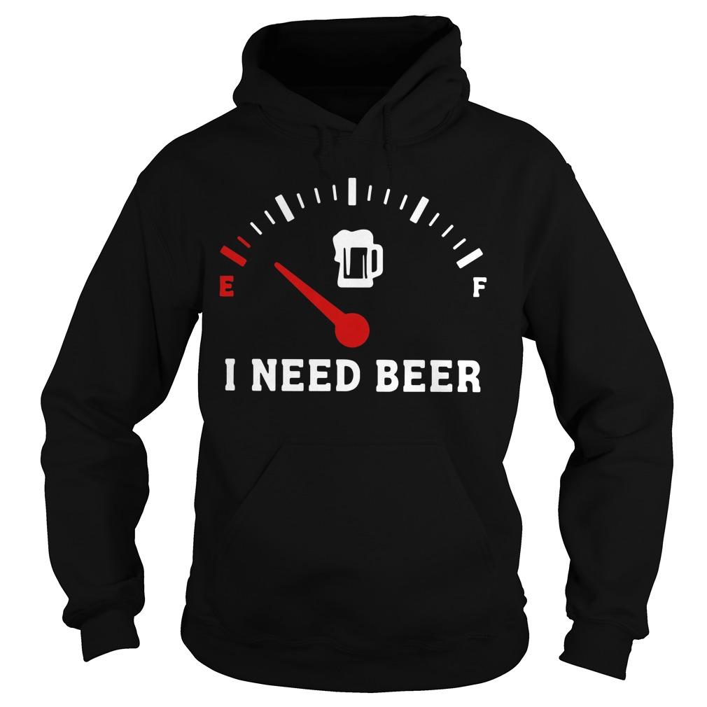 Meter Empty I need beer Hoodie