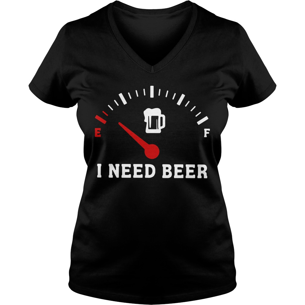 Meter Empty I need beer V-neck T-shirt