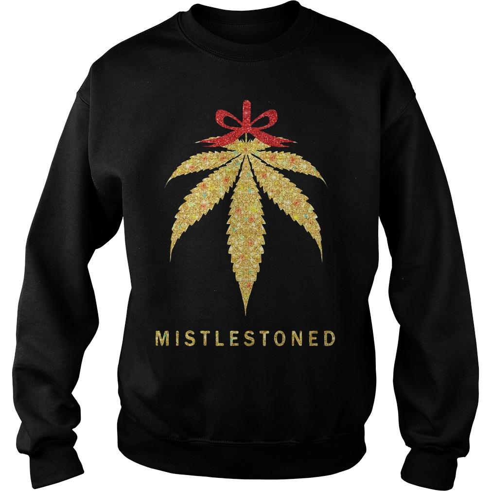 Mistlestoned Weed christmas Hoodie