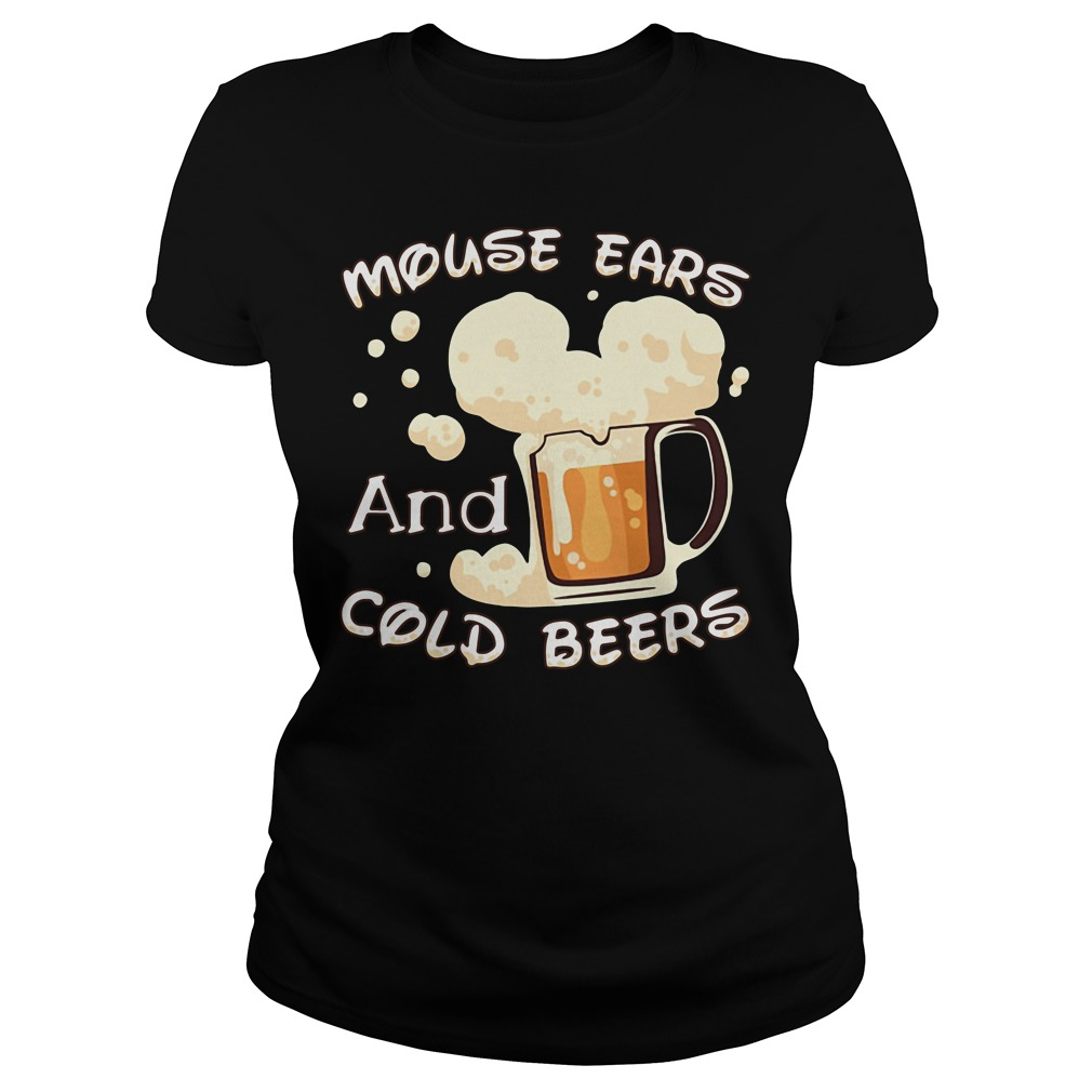 Mouse ears and cold beers Ladies tee