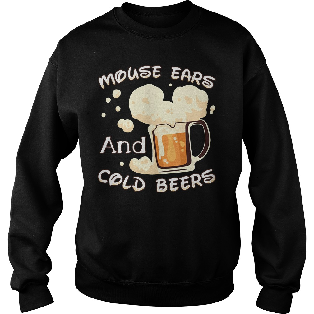 Mouse ears and cold beers Sweater