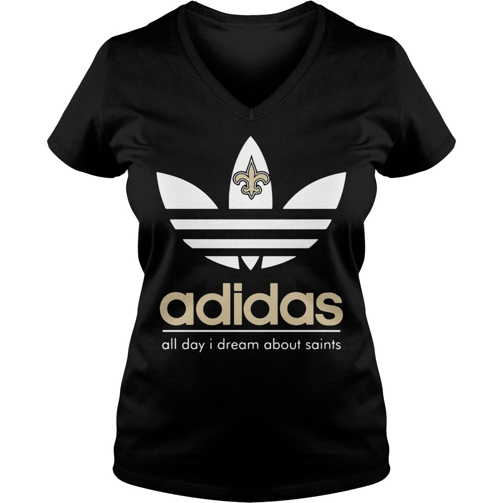 New Orleans Saints Adidas all day I dream about saints V-neck T-shirt
