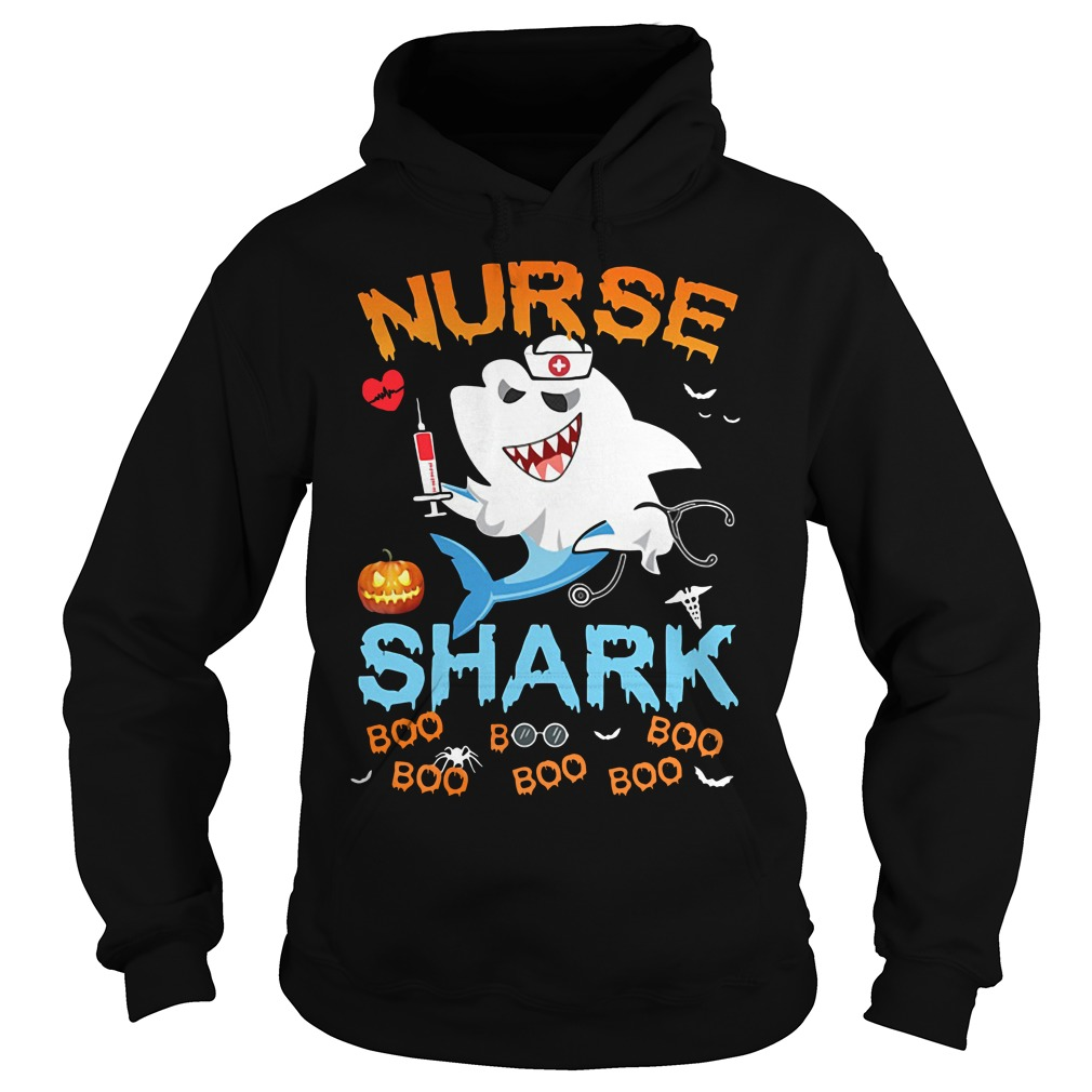 Official Halloween Nurse Shark Boo Boo Boo Boo Hoodie