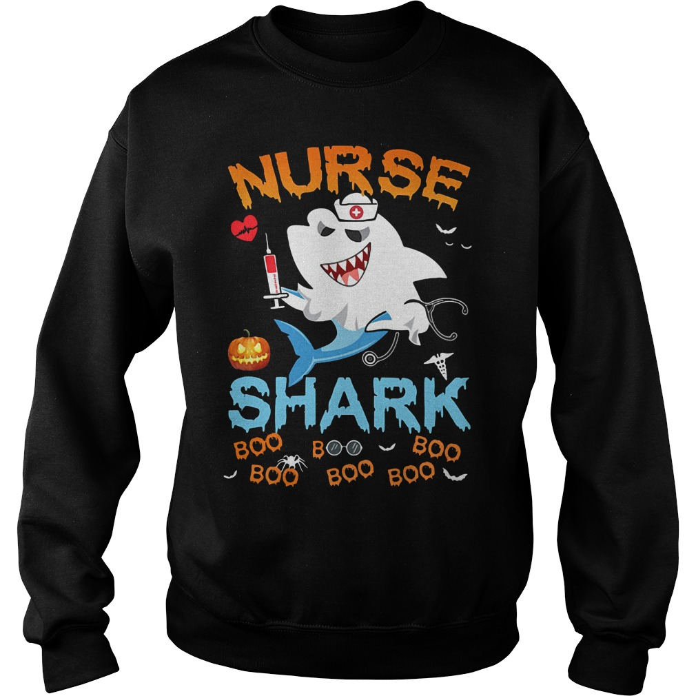 Official Halloween Nurse Shark Boo Boo Boo Boo Sweater