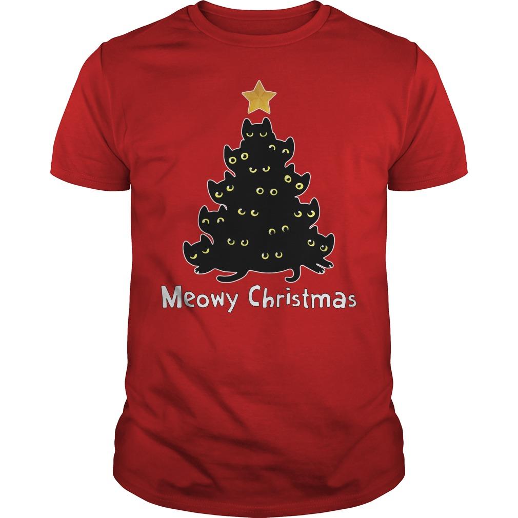 Official Meowy Christmas Guys shirt