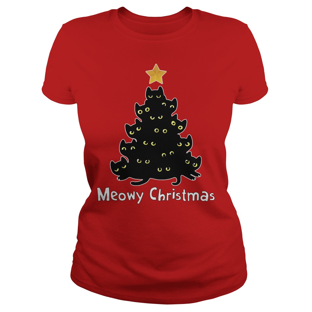 Official Meowy Christmas Ladies tee