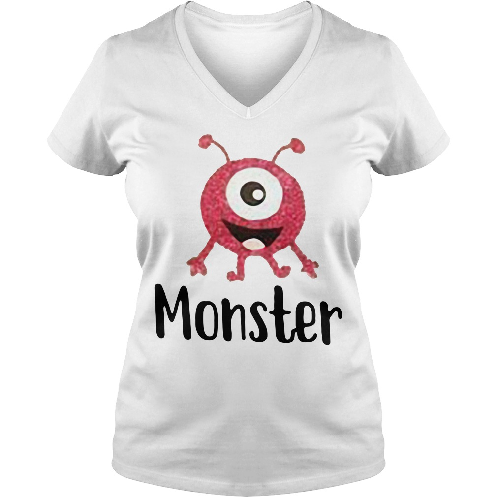 Official monter V-neck T-shirt
