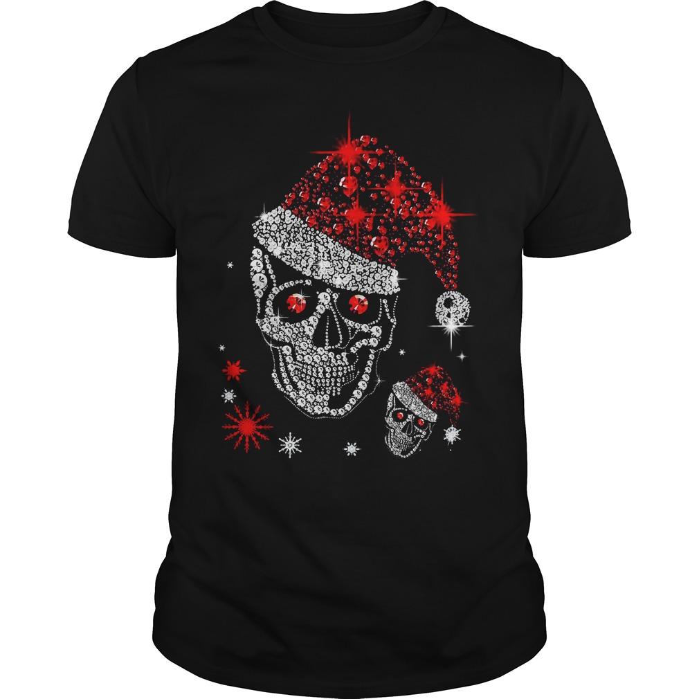 Official Skull Rhinestone Christmas Guys shirt