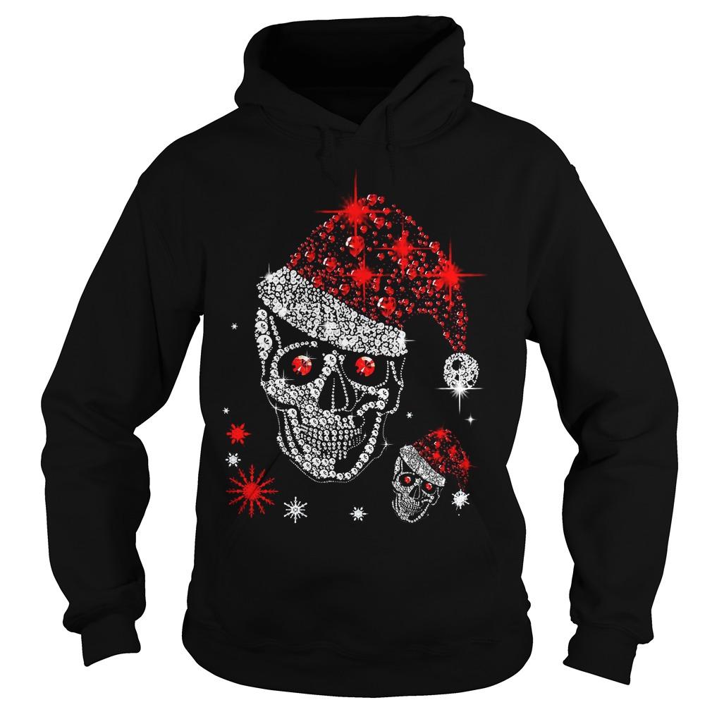 Official Skull Rhinestone Christmas Hoodie