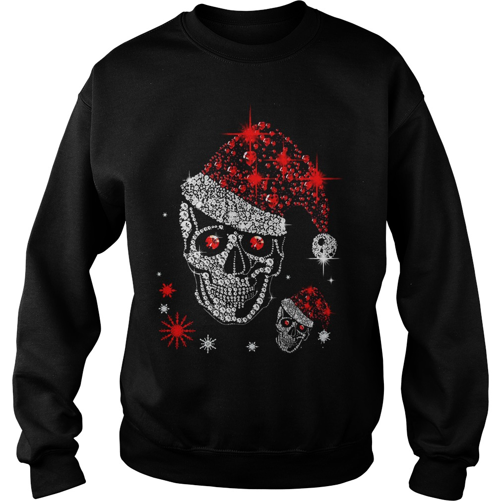 Official Skull Rhinestone Christmas Sweater