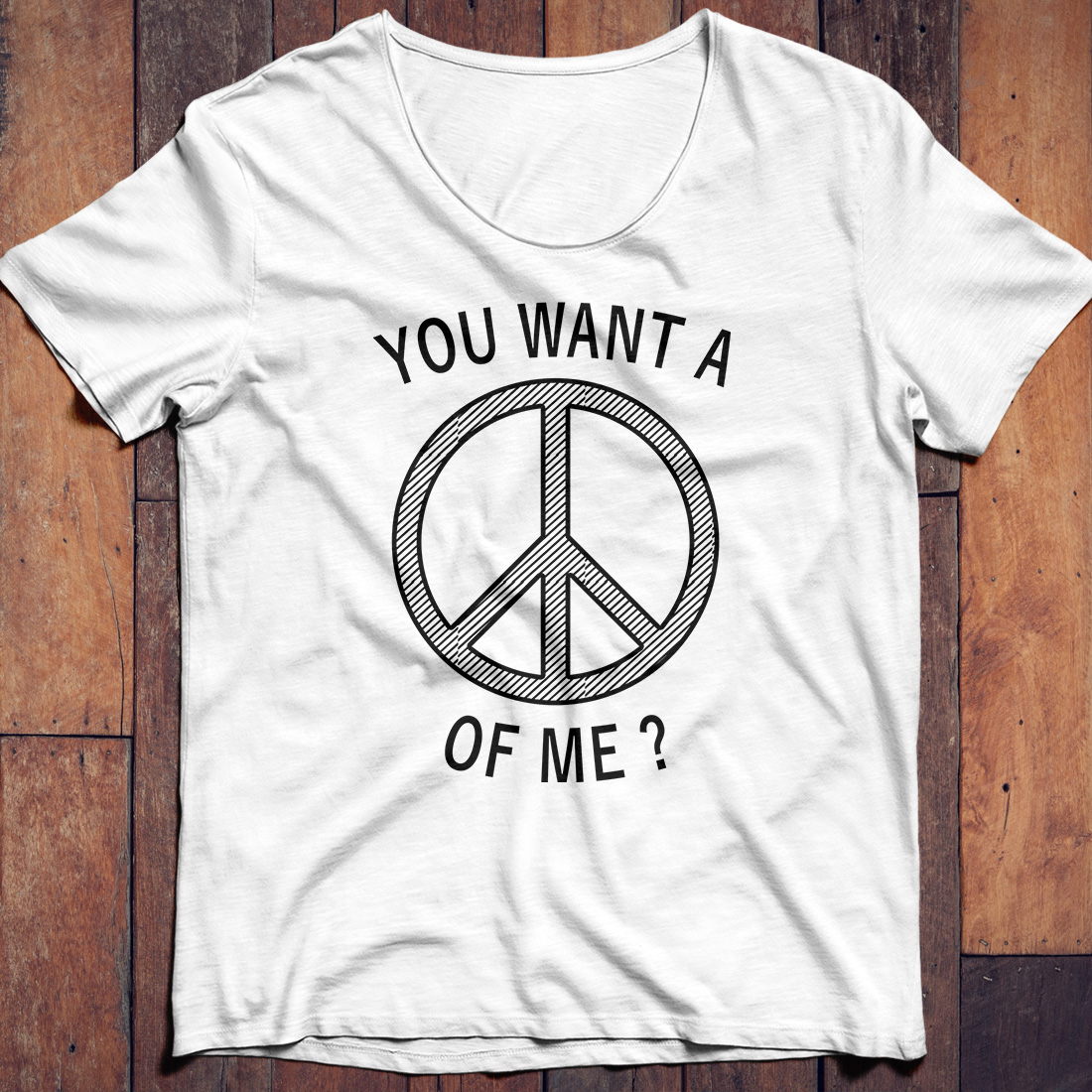 Passive Aggressive Hippie You want a Peace of me shirt