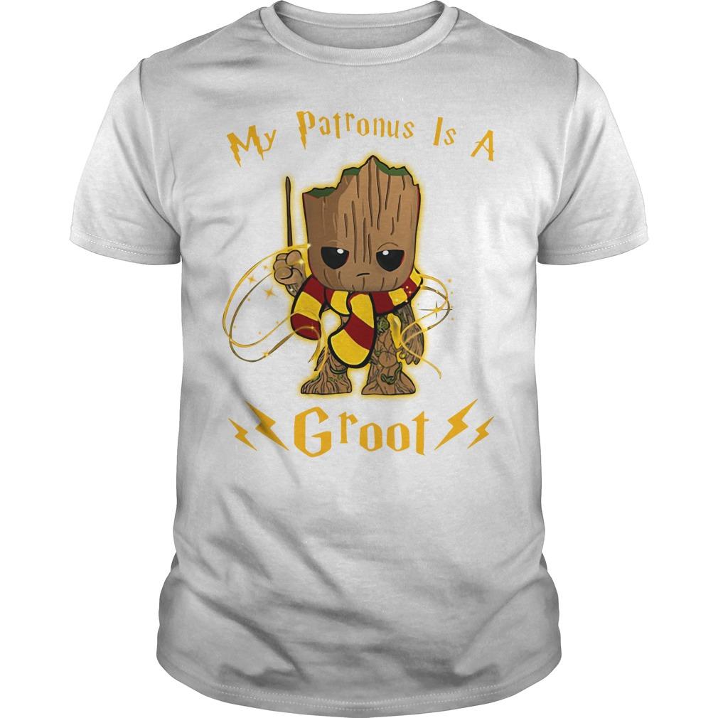 My patronus is a baby Groot Guys shirt