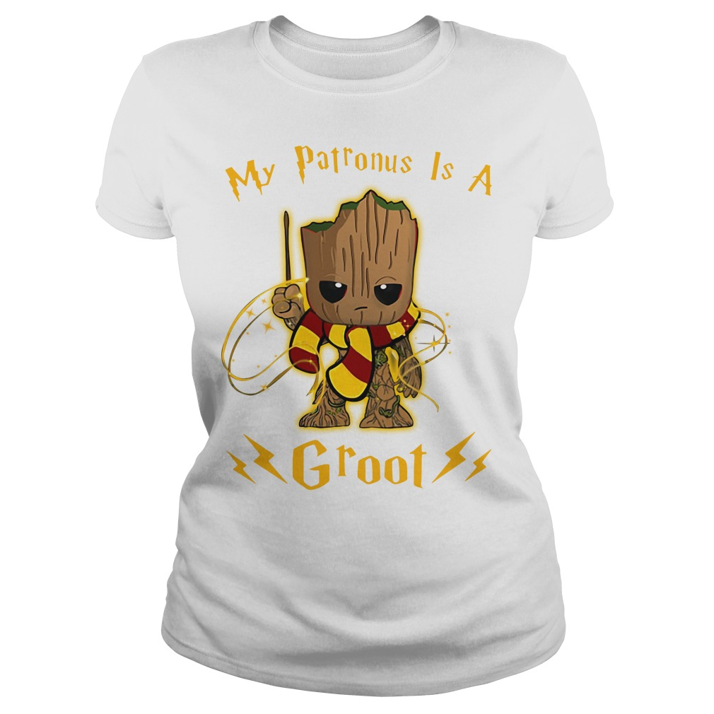My Patronus Is A Baby Groot Shirt Hoodie Sweater And V