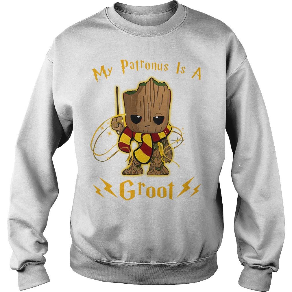 My patronus is a baby Groot Sweater