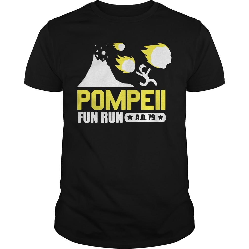 Pompeii Fun Run Guys shirt