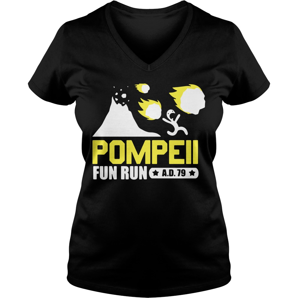 Pompeii Fun Run V-neck T-shirt