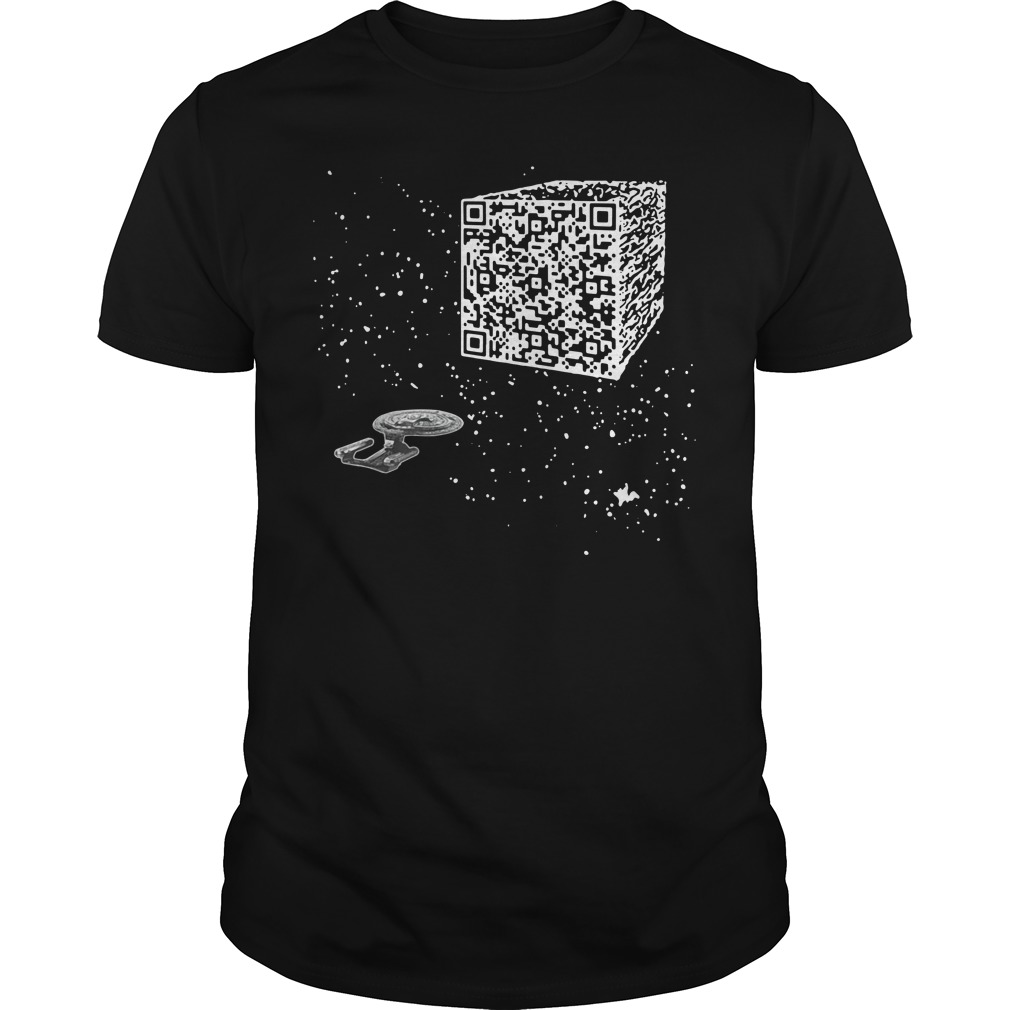 QR Code Cube We are the borg Guys shirt