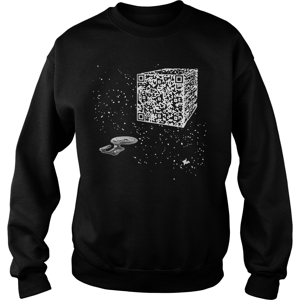 QR Code Cube We are the borg Sweater