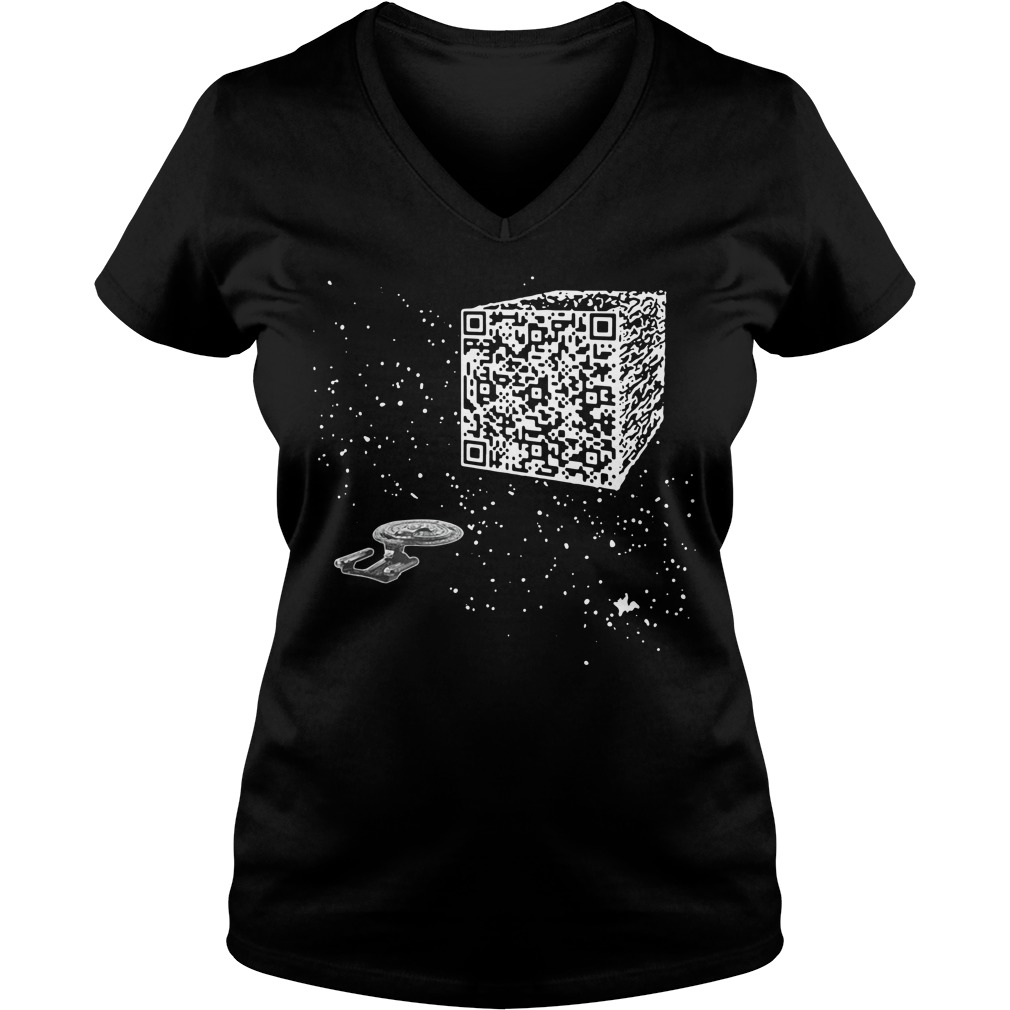 QR Code Cube We are the borg Tank top