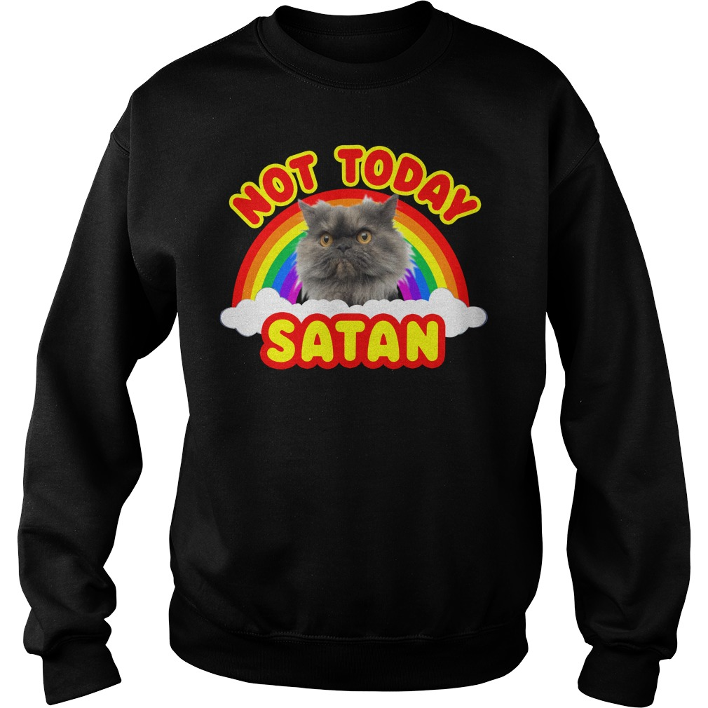 Rainbow Cat Death Metal not today Satan Sweater
