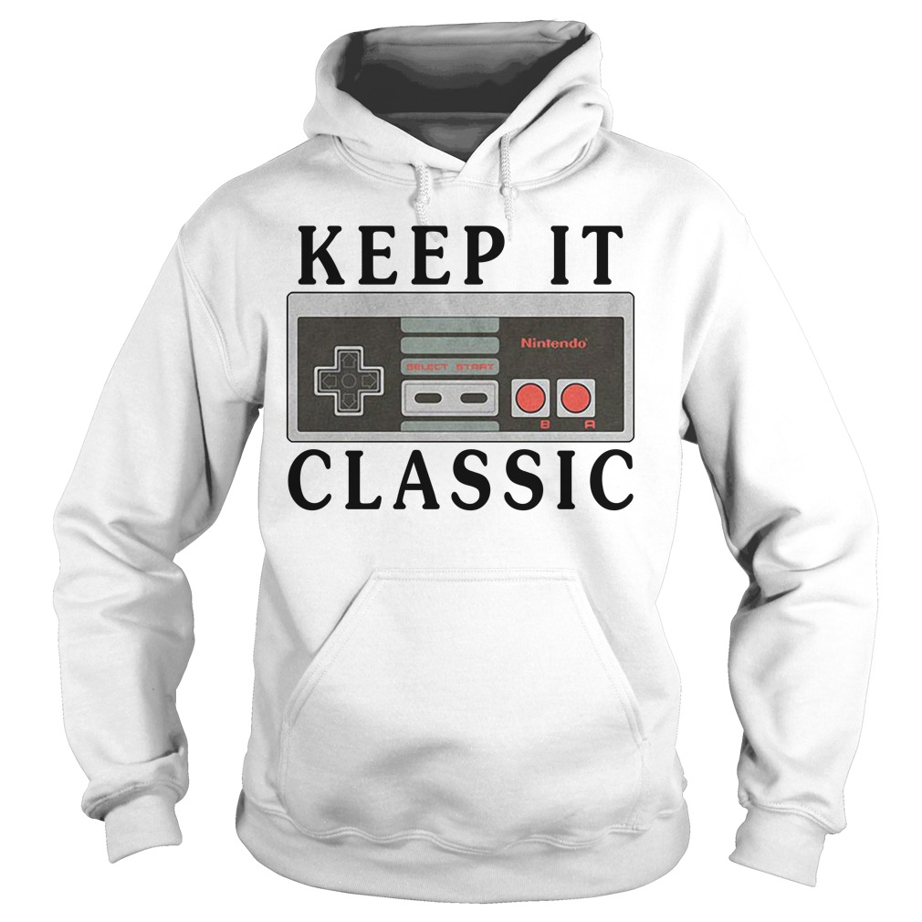 Retro Nintendo Controller Keep it Classic Hoodie