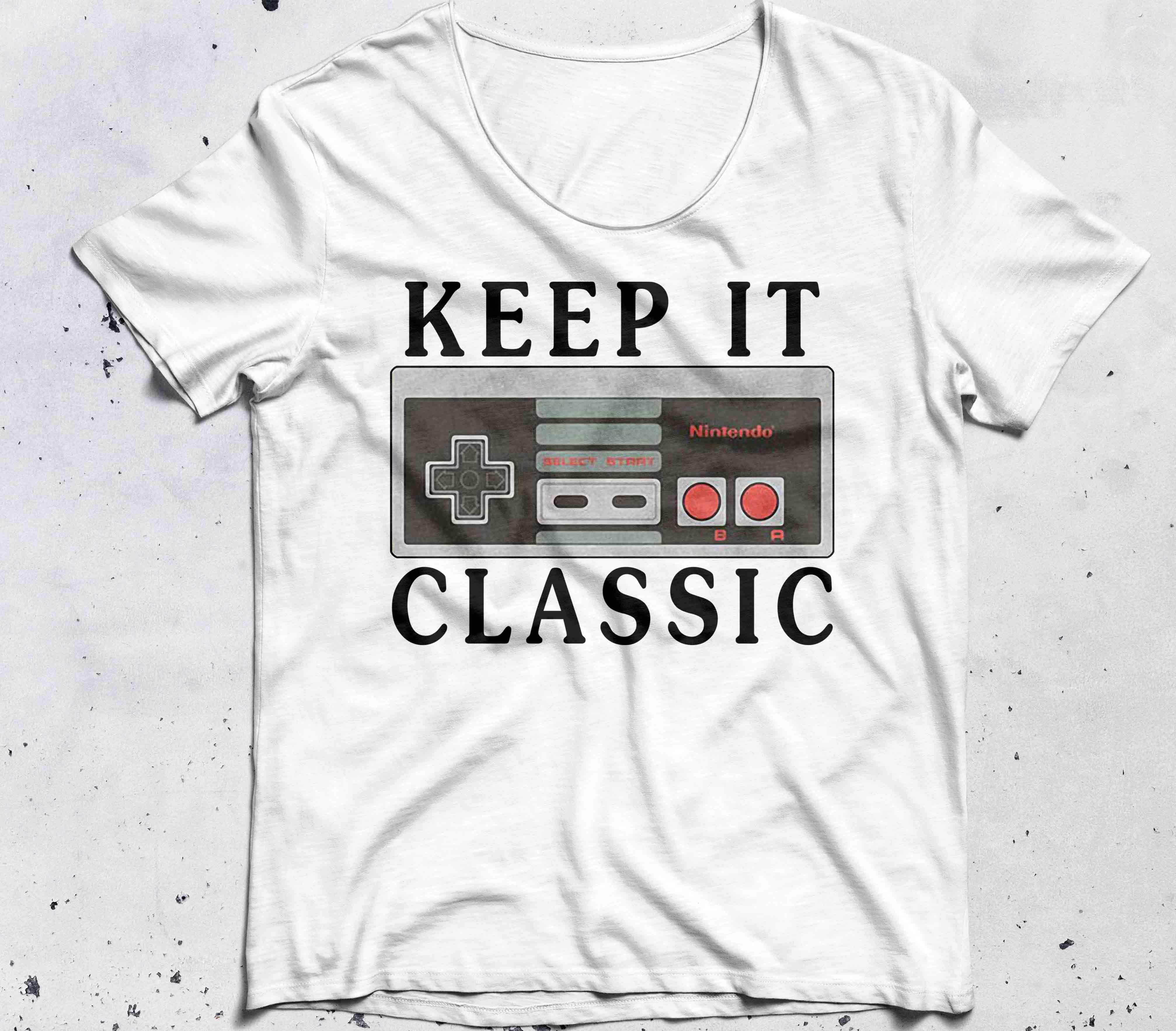 Retro Nintendo Controller Keep it Classic shirt