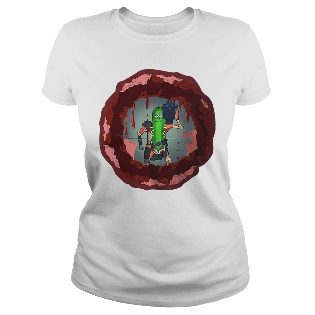 Rick and morty hole in the wall Ladies tee