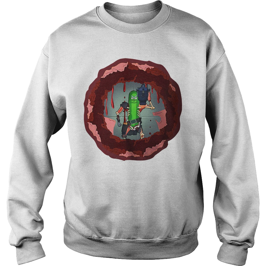 Rick and morty hole in the wall Sweater